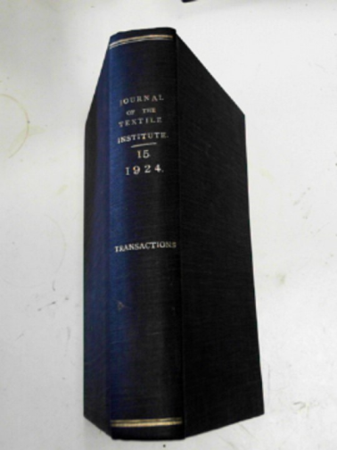 - The Journal of the Textile Institute, vol.XV - 1924: transactions and index