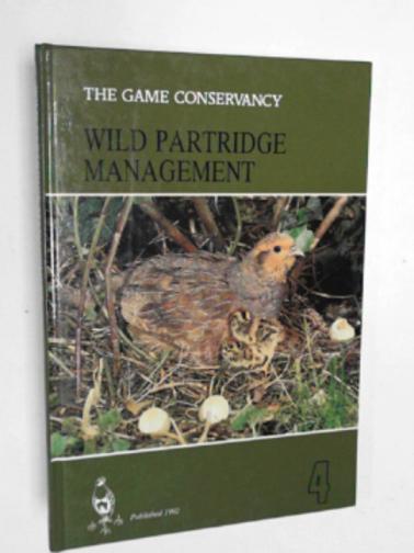 GAME CONSERVANCY - Wild Partridge management